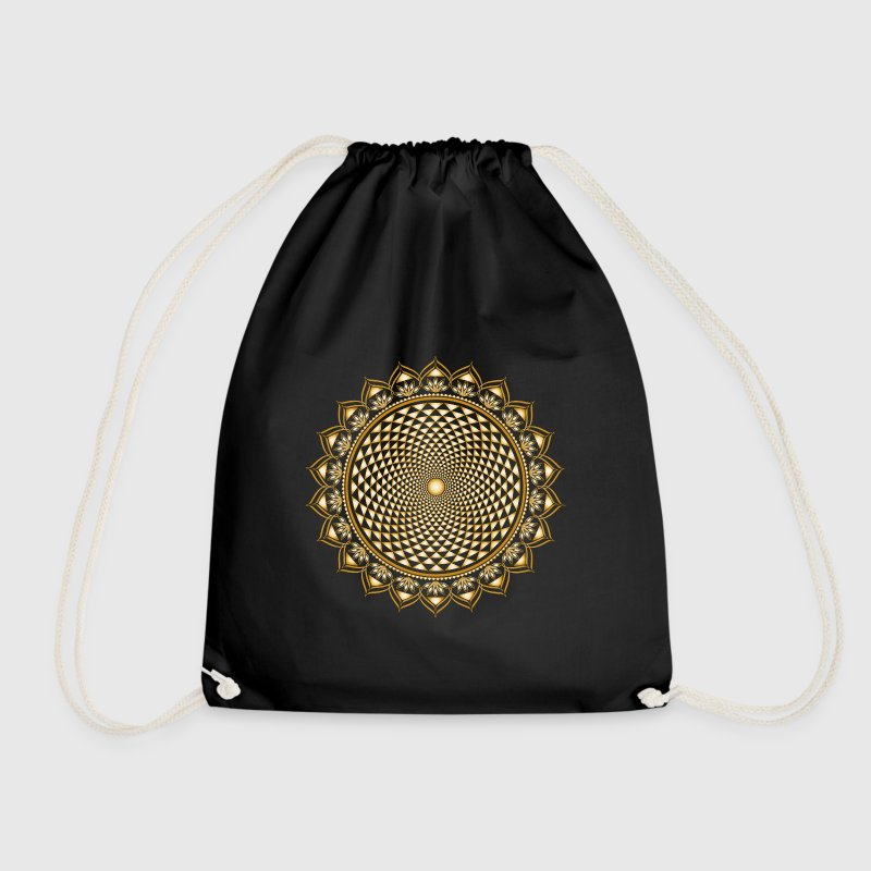 Lotus Chakra, Yoga, Buddhism, Meditation, Om - Drawstring Bag