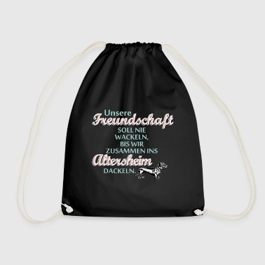 Witty Friendship saying witty dog - Drawstring Bag