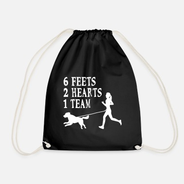Canicross Hovawart jogging dog dog saying sport - Drawstring Bag