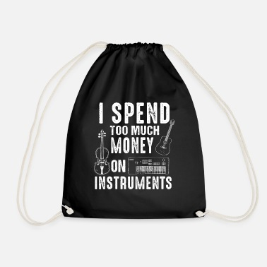 Musical Instrument Music gift instrument musician piano guitar - Drawstring Bag