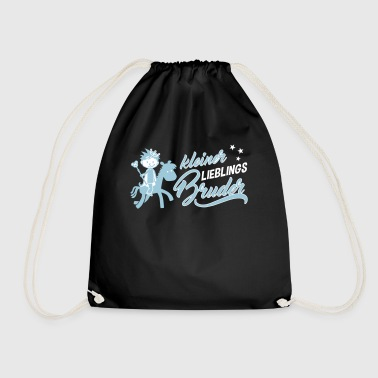 Small favorite brother - siblings - Drawstring Bag