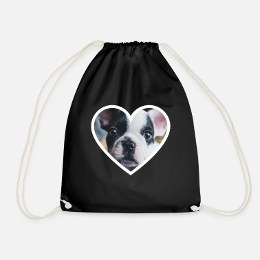 A heart for dogs - Drawstring Bag