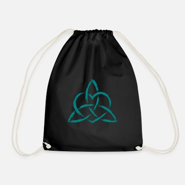 Triquetra Celtic heart knot symbol - Drawstring Bag
