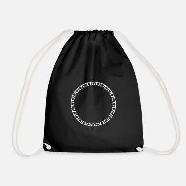Circle Pi symbol math circle gift - Drawstring Bag