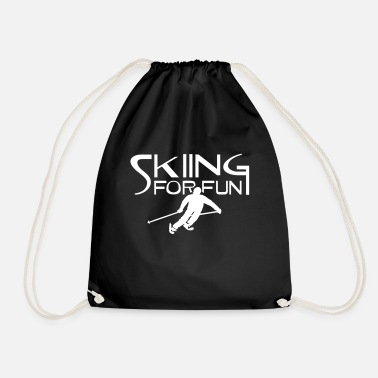 Ski Resort ski resort skies ski area skiing - Drawstring Bag