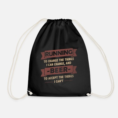 Funny Quotes Funny Quotes> Running + Beer - Gymtas