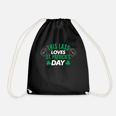 Lasse This lass loves the St. Patrick's Day Shamrock Te - Drawstring Bag