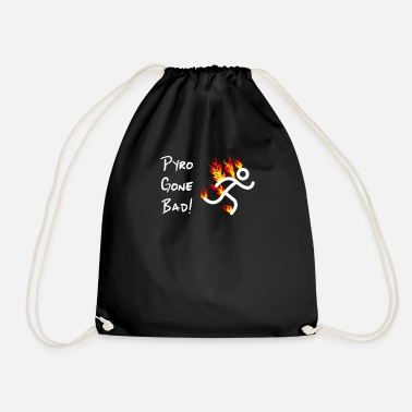 Crew Pyrotechnician Funny Fireworks Gift Pyro Gone Bad - Drawstring Bag