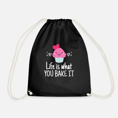 Baking Design for a Baker - with a Cupcake - Life - Drawstring Bag