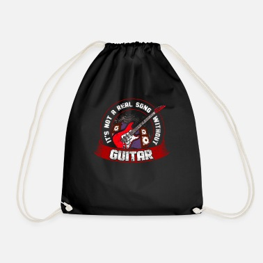 Alive &amp It's Not A Real Song Without Guitar Songwriter - Drawstring Bag