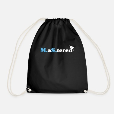 Master's Degree Graduation Gift print - Drawstring Bag