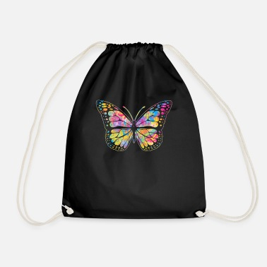 Parade Pansexual Butterfly design Streetwear Graffiti - Drawstring Bag
