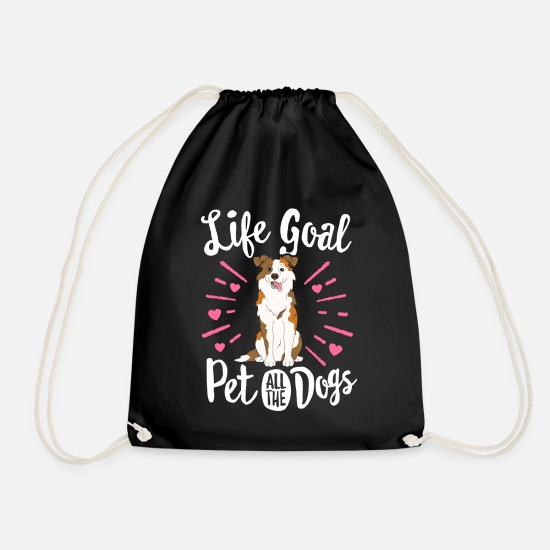 Australian Shepherd Bags & Backpacks - Life Goal Pet All The Dogs Australian Shepherd - Drawstring Bag black