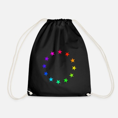Yes We Can Rainbow Stars - Drawstring Bag