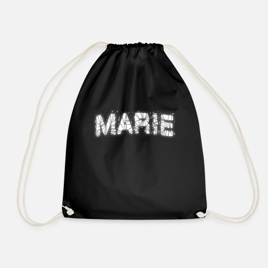 Marie Bags & Backpacks - Marie's birthday present - Drawstring Bag black