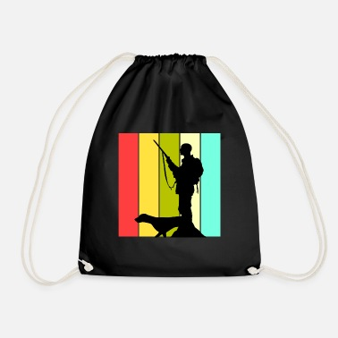 Hunting Dog Hunter with dog hunting dog hunting hunting gift - Drawstring Bag