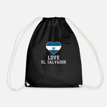 Gawkclothing El Salvador Love Heart Flag Gift - Drawstring Bag