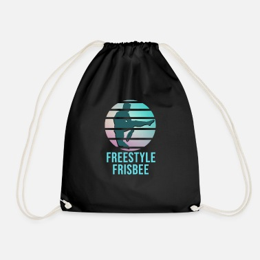 Freestyle Frisbee Freestyle Sport Game Gift Idea - Drawstring Bag