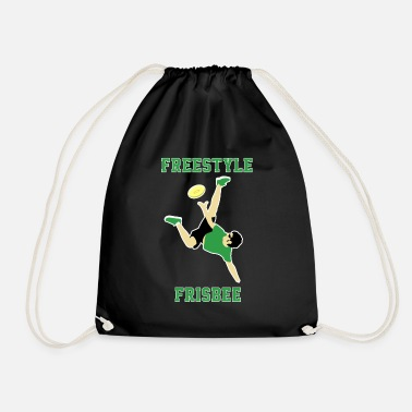 Freestyle Frisbee Freestyle Sport Club Gift Idea - Drawstring Bag
