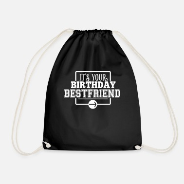 Birthday Greeting Birthday greetings Birthday friend retro gift - Drawstring Bag