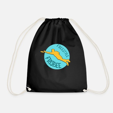 Freestyle Frisbee Freestyle Disc Discus Club Gift - Drawstring Bag
