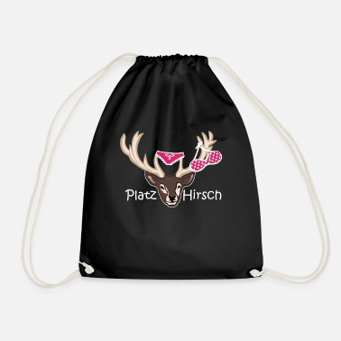 Stag Underwear Place deer birthday gift idea macho - Drawstring Bag