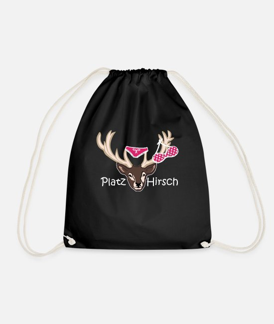 Stag Bags & Backpacks - Place deer birthday gift idea macho - Drawstring Bag black