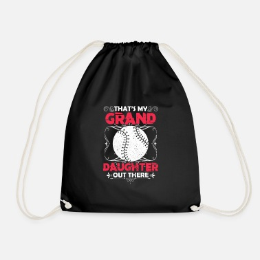 Granddaughter Granddaughter baseball - Drawstring Bag