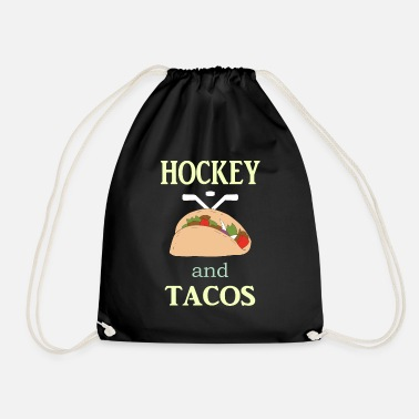 Goalkeeper Hockey Gift to Player Team Mom Coach Funny Tacos - Drawstring Bag