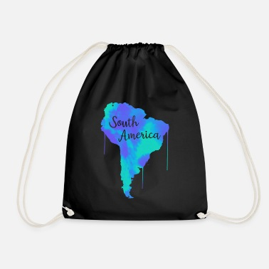 South America South America - Drawstring Bag