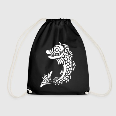 grenoble dolphin - Drawstring Bag