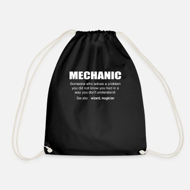 Description Mechanic Description - Drawstring Bag