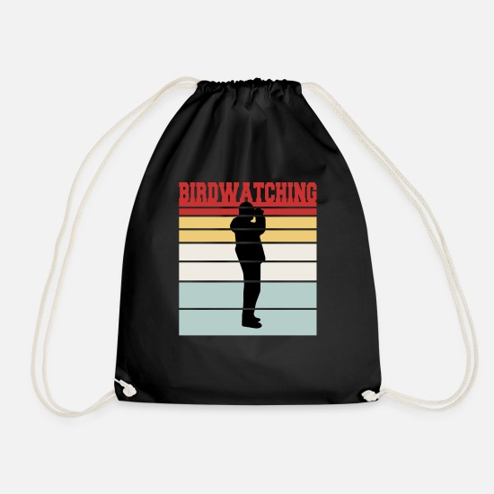 Sports Bags & Backpacks - Retro Birdwatching Team T-Shirt - Drawstring Bag black