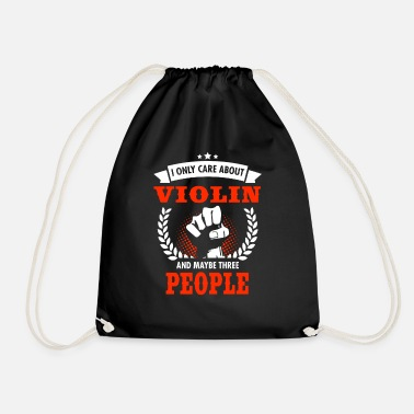 Fiddlestick I Only Care About Violin And Maybe Three People - Drawstring Bag