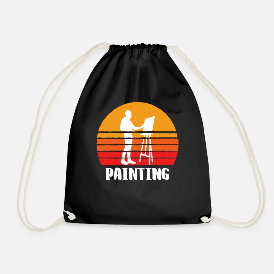 Sports Bags & Backpacks - Painting Sunset - Drawstring Bag black