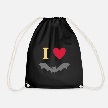 Pygmy Bat I love bats - Drawstring Bag