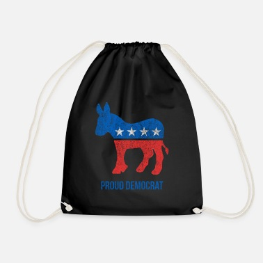 Democrat Vintage Proud Democrat - Drawstring Bag