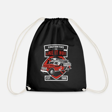 Engine Firefighters like it hot - fire engine - Drawstring Bag