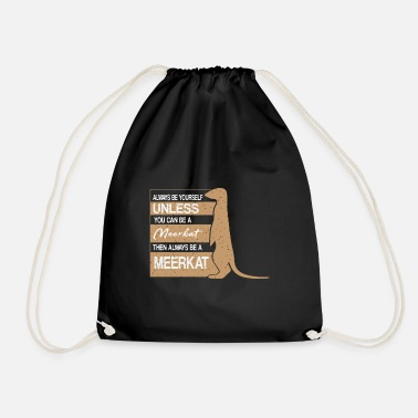 Animal Lover Meerkat animal lover animal lover gift animal - Drawstring Bag