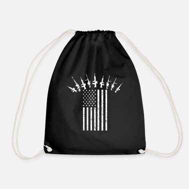 Soldier US Military American Soldier 4th July Veteran Gift - Drawstring Bag