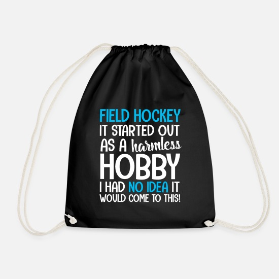 Birthday Bags & Backpacks - Field hockey field hockey indoor hockey hockey - Drawstring Bag black