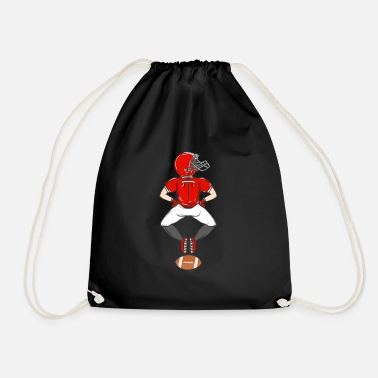 Football Rugby American Football Sport USA Gridiron Footbal - Drawstring Bag