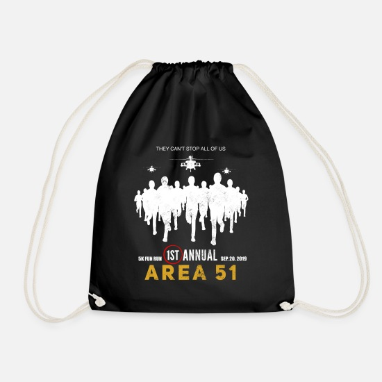 Birthday Bags & Backpacks - 5K fun run area - Drawstring Bag black