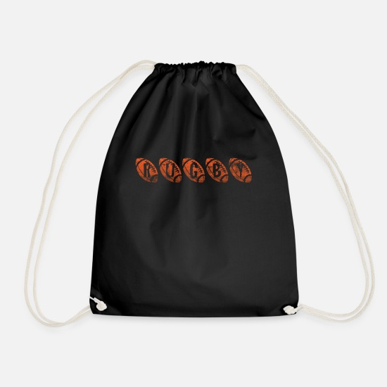 Rugby Bags & Backpacks - rugby - Drawstring Bag black