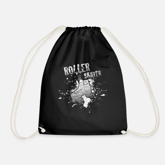 Gift Idea Bags & Backpacks - Roller-skating - Drawstring Bag black