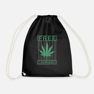 Hashish Free cannabis hemp - Drawstring Bag