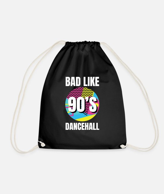 Ragga Bags & Backpacks - Dancehall Reggae Nineties 90s - Drawstring Bag black