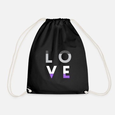 Vie Quotidienne LOVE LGBT Asexual LGBTQIA LGBT Pride Rainbow - Sac à dos cordon