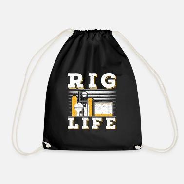 f6a491e399 Oil Rig Oilfield Rig Life oil field - Drawstring Bag