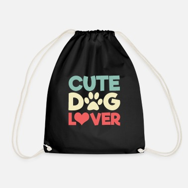 Cute Dog Cute dog lover dogs cute cute - Drawstring Bag
